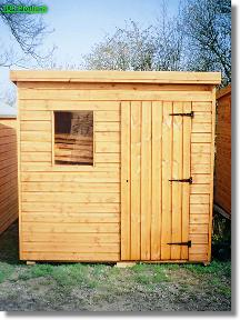 Maltby pent roof garden shed for Garden shed 4x4